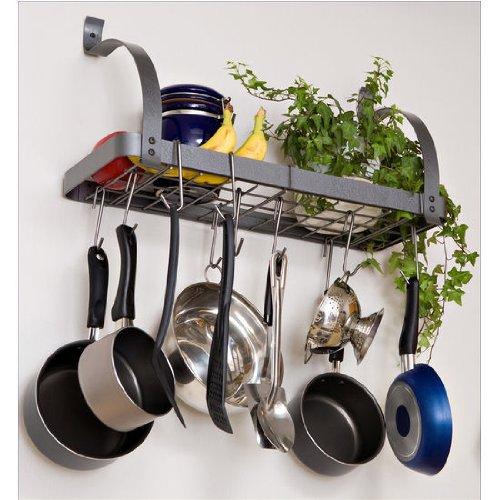 Decobros Kitchen Counter And Cupboard Pan Organizer Shelf Rack